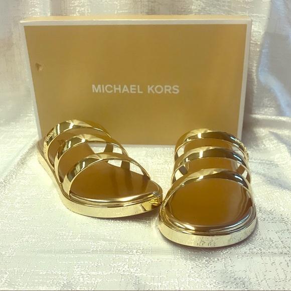 ddf8d51c2539 MIcheal Kors Keiko slide flat Sandal SZ 7 NBW